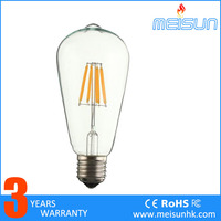 2016 New Product Energy Saving ST64 8W Led Bulb Led Filament Bulb E27