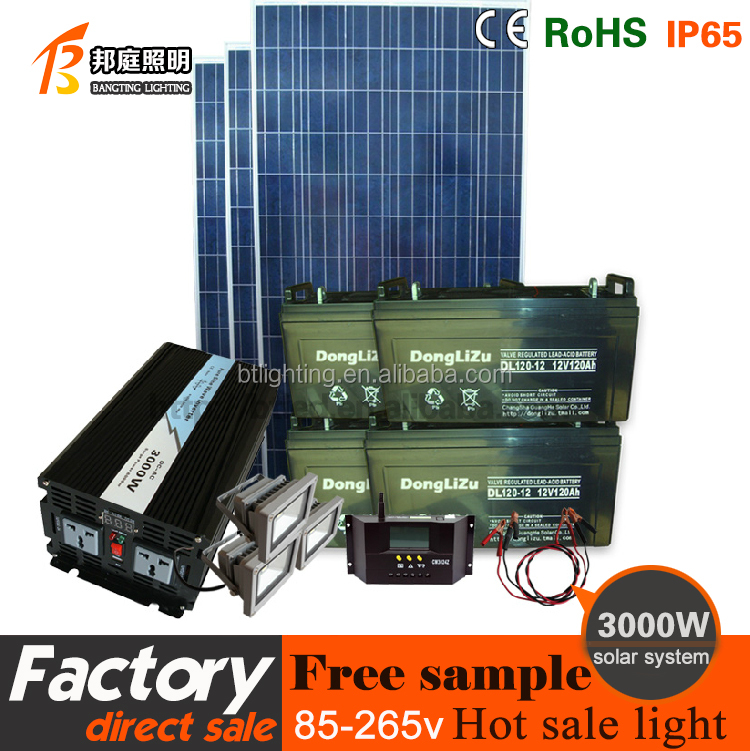 3000WHousehold grid tie 3kw solar power system home / solar power generator