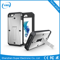 Three-Proofings Case with Front Screen Protector & Holder Combo PC case phone for iphone 5 5S 5C SE