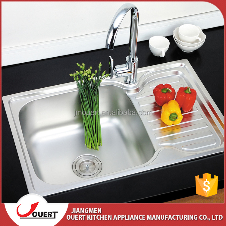 Modern Stainless Steel Single Kitchen Sink With Drain
