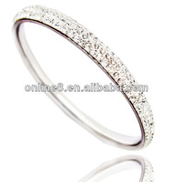 stainless steel bangles crystal ball bracelets beads and jewelry