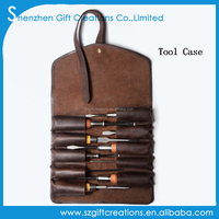 Customized Handmade Genuine Leather Tool Roll