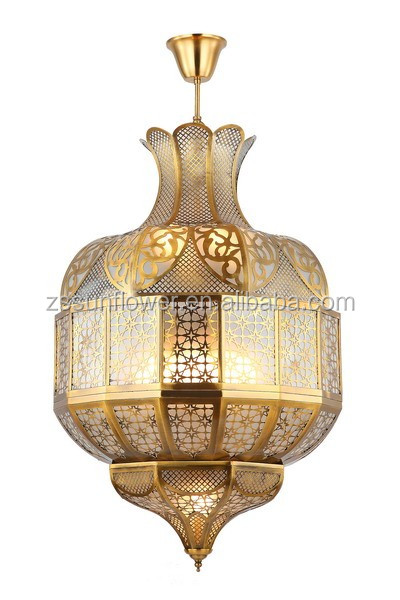 Arabian Restaurant Decoration Drop Lamp Wrought