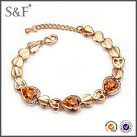 Crystal Fashion Luxury mens solid gold bracelets