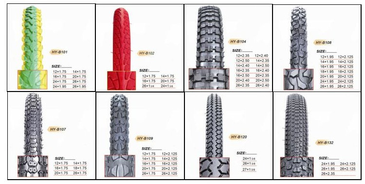 alibaba china factory of 12x2.125 bicycle tyre and tube custom bike tires sizes cheapest chinese bicycle tyre