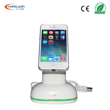 2016 new design mobile cell phone security display stand alarm holders with anti theft with charging function