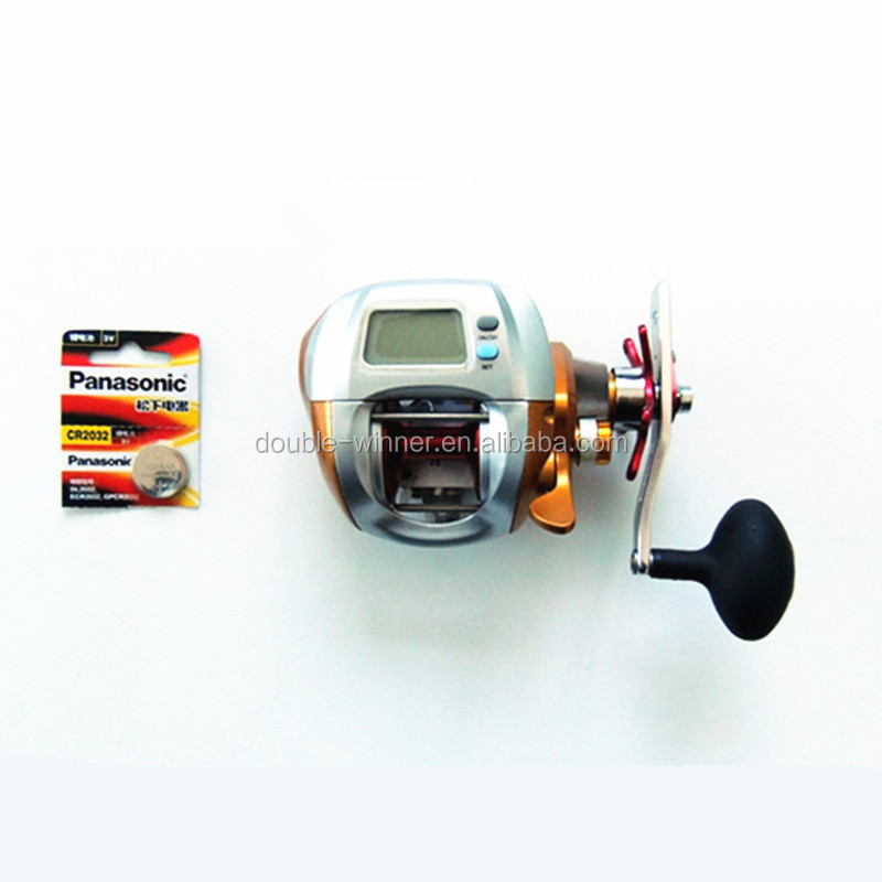 Popular one way clutch trolling electronic counter fishing reel with bettery