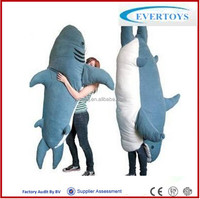 animal shaped shark sleeping bag