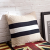 Thick Chunky Acrylic Yarn Handmade White Black Pillow Case Sofa British Style Decoration Knitted Cushion Cover