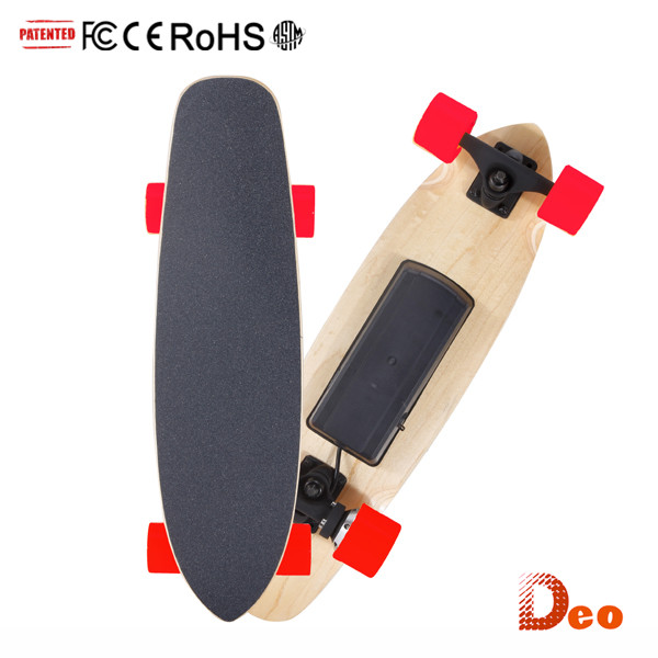 Deo Drop Ship 4 Wheel Wood Electric Scooter Skate Board