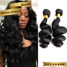 Remy brazilian hair weaving,8A grade virgin loose wave hair bundles