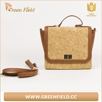 Natural cork women handbag natural Cork handbag