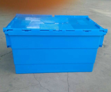 heavy duty attached lid stackable and neastable plastic tote box price