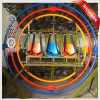 3D gyro loop attractive human gyroscope ride for sale