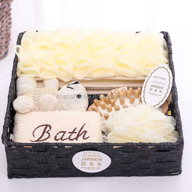 Travel promotion classical bathroom set china, SPA bath accessory bath gift set