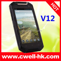 V12 Rugged Smartphone 4.5 Inch HD IPS Screen MTK6589T Quad Core IP67 Waterproof android mobile phone low price