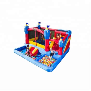 Colorful 0.55mm PVC  children outdoor games ocean ball inflatable bouncer house