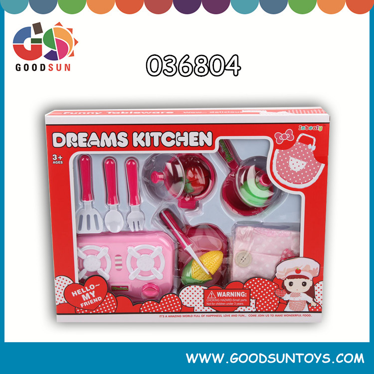 Wholesale very cheap baby toys plastic cooking food toys kitchen play set