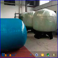 Different size FRP pressure water filter vessel tank manufacture