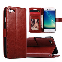 Good price retro PU leather wallet flip magnet mobile phone case for iphone 7