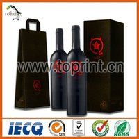 Single Bottle Wine Paper Bag Strong Paper Bag for Red Wine