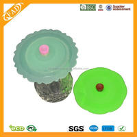Eco-friendly FDA Approved Food Grade Gift Suction Sealing Coffee Tea Mug Ceramic Silicone Cup Lid Cover