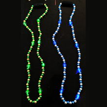 Deluxe blinking color changing bead jewelry flashing holiday light necklace designs led wholesale jewelry with high quality
