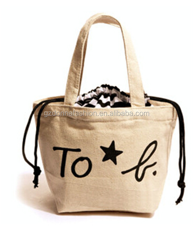 New Arrival Wholesale Custom Cotton Canvas DNBG3SB0052 Tote Bags