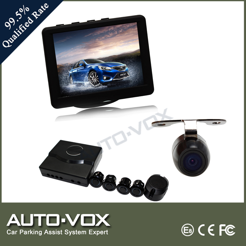 3.5 inch digital lcd monitor system with sensor parking rear view camera
