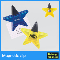 promotional plastic magnet clip for paper fridge