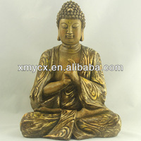 Wholesale hand carved wooden buddha statue