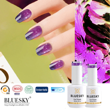 Bluesky New Wonderful Temperature Change Color uv gel nail polish for nail art beauty