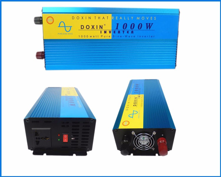 pure sine wave 1000 watt power inverter 12v 220v solar energy home system