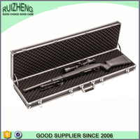 2015 profession black aluminum easy carry gun case box