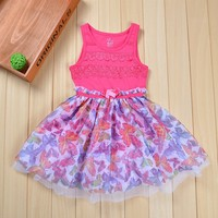 New arrival little girl queen baby dress designs kids clothing suppliers in china summer kid wear PZQ08