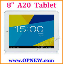"8"" Android 4.2 CHEAP Dual Core Tablet PC A20 1.52GHz 6 Colors In stock OPNEW Wholesale"
