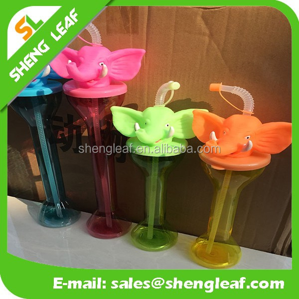 Cool elephant design customized plastic drinking water bottle