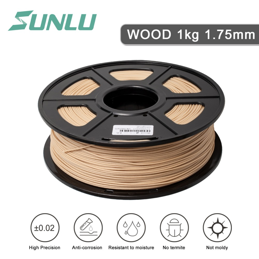 1.75mm pla wood filament no warping 3d printer wood filament pla with high quality