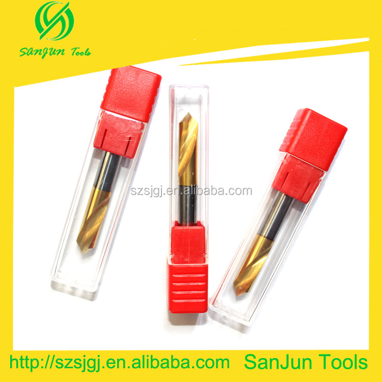 sanjun tungsten 75mm carbide drill bits end milling cutter/carbide drill sharpener cutting tools with coating