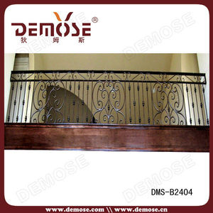 powder coated black iron guard fence/fencing/railing