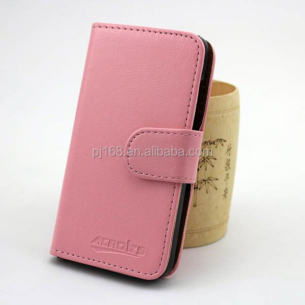 Eenvoudige Portemonnee Ontwerp Lederen Cover Flip Case