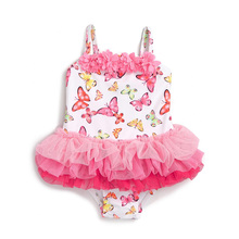 China made factory fat girl in micro bikini swimwear children baby swim suit