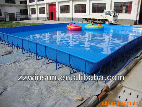 Powder Coated Galvanized Steel Pool for family and commercial use