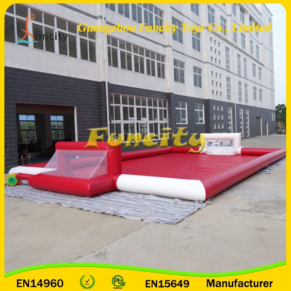 New inflatable soap football field,outdoor portable inflatable football pitch,inflatable football arena for sale