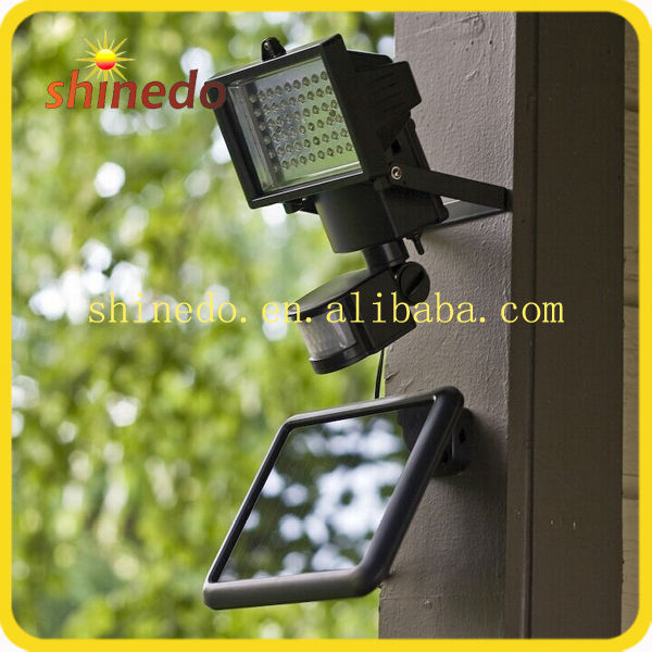 60 Led solar garden motion adjustable wall lamp for outdoor