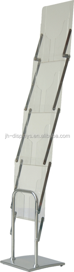 Advertising Equipment A4 Acrylic Literature Rack Catalogue Stand Brocure Holder