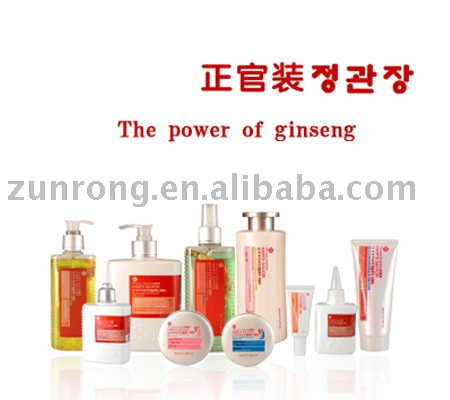 Ginseng series hair dressing products
