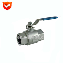 High quality 2PC 3PC stainless steel s s 304 316 Ball valve