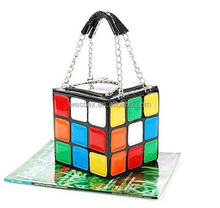 Hot Selling Women's Handbag Creative Magic Cube Totes Bag Organizer Bag