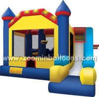 Top quality inflatable bouncy castle with water slide for sale Z2040